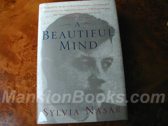 Picture of the 1998 first edition dust jacket for A Beautiful Mind.