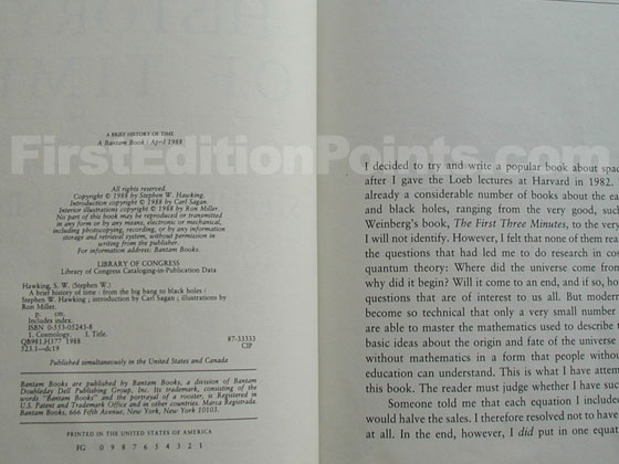 This is the copyright page from the first state of the U.S. first edition.