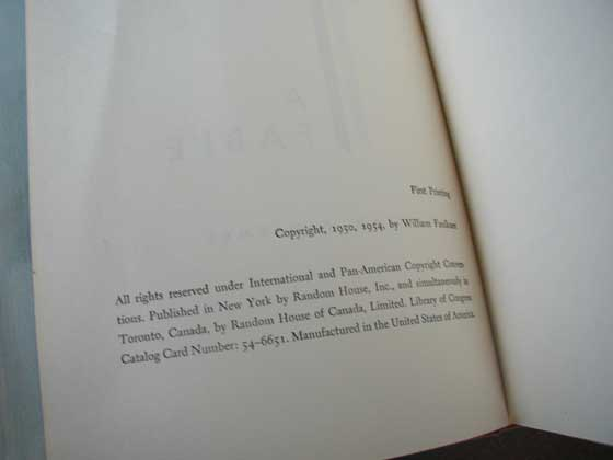 """First Printing"" is stated on both the limited first edition and the first trade e"