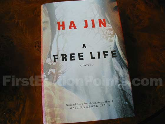 Picture of the 2007 first edition dust jacket for A Free Life.