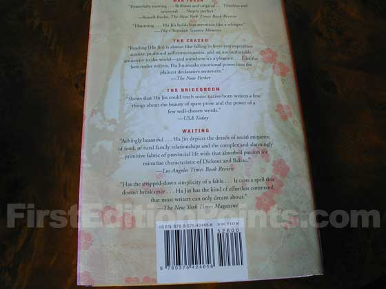 Picture of the back dust jacket for the first edition of A Free Life.