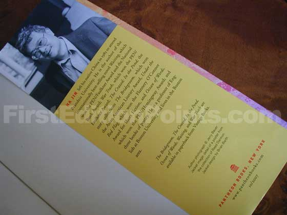 Picture of the back dust jacket flap for the first edition of A Free Life.