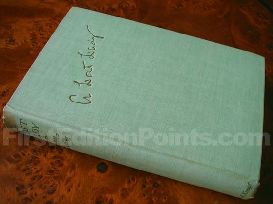Picture of the first edition Alfred A. Knopf boards for A Lost Lady.