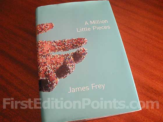 Picture of the 2003 first edition dust jacket for A Million Little Pieces.