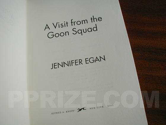 Picture of the title page for A Visit from the Goon Squad.