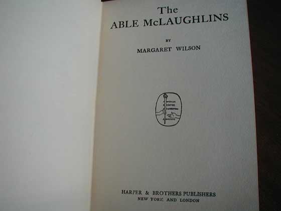 Picture of the title page for The Able McLaughlins.
