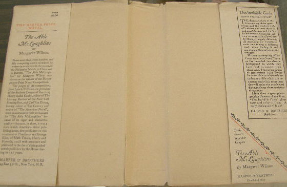 This image shows the first issue dust jacket flap with the Book-Sellers' Reorder