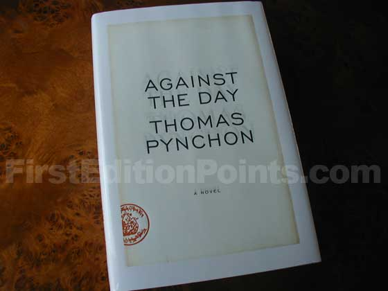 Picture of the 2006 first edition dust jacket for Against the Day.