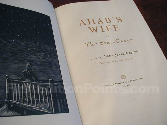 Picture of the first edition title page for Ahab's Wife.