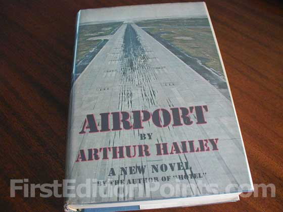 Picture of the 1968 first edition dust jacket for Airport.