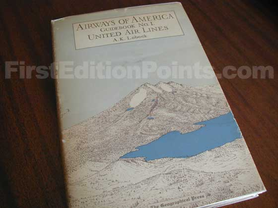 Picture of the 1933 first edition dust jacket for Airways of America.