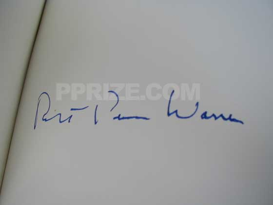 The Franklin Library limited edition was signed edition by Robert Penn Warren.