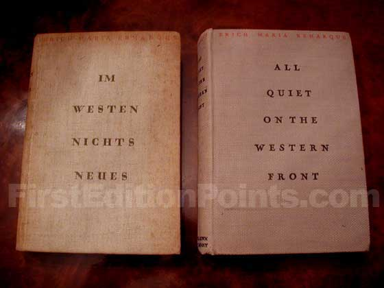 The true first edition (in German) is on the left.  The first American edition is on the