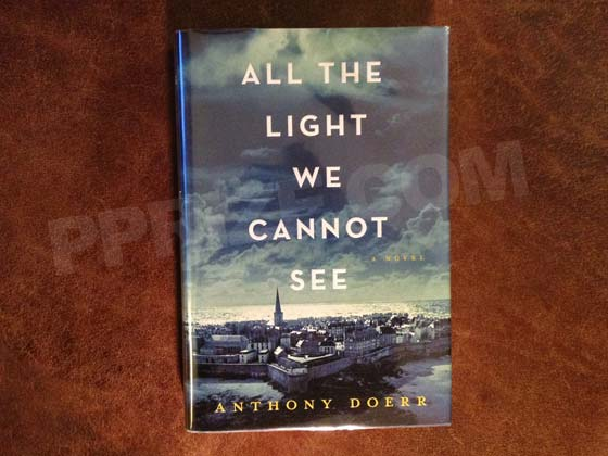Picture of the 2014 first edition dust jacket for All the Light We Cannot See.