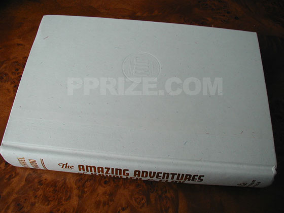 Picture of the first edition Random House boards for The Amazing Adventures of Kavalier