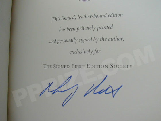 Signature of Philip Roth from the Franklin Library Signed First Edition of American