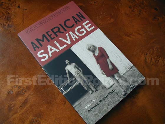 Picture of the 2009 first edition dust jacket for American Salvage.