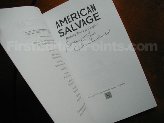 This is title page from the original first edition of American Salvage.  This one was