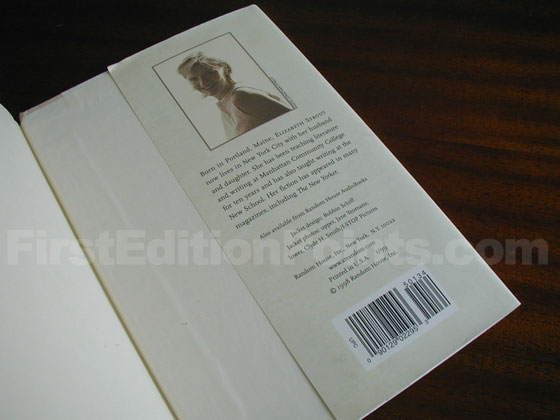 Picture of the back dust jacket flap for the first edition of Amy and Isabelle.