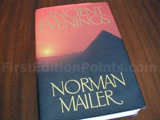 Picture of the 1983 first edition dust jacket for Ancient Evenings.