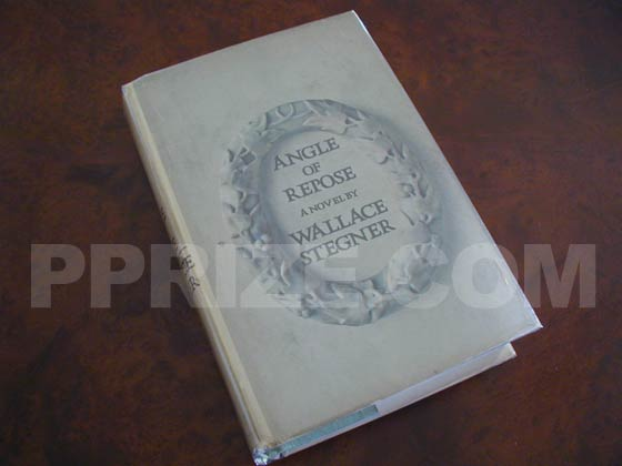 Picture of the 1971 first edition dust jacket for Angle of Repose.