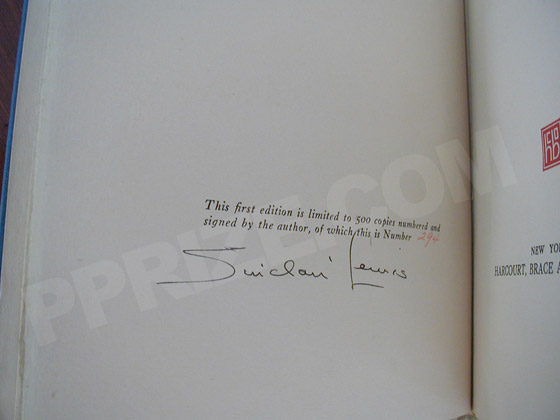 This is the signature page from the true first edition.