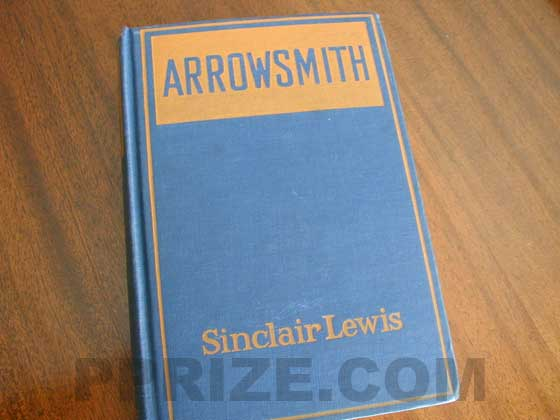 The first trade edition had orange letters on blue boards.
