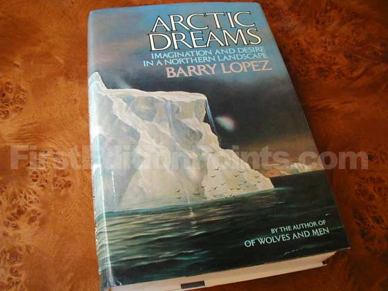 Picture of the 1986 first edition dust jacket for Artic Dreams.