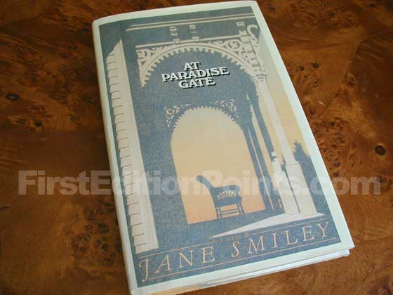 Picture of the 1981 first edition dust jacket for At Paradise Gate.