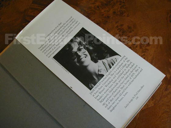 Picture of the back dust jacket flap for the first edition of At Paradise Gate.