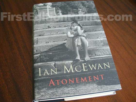 Picture of the 2001 first edition dust jacket for Atonement.