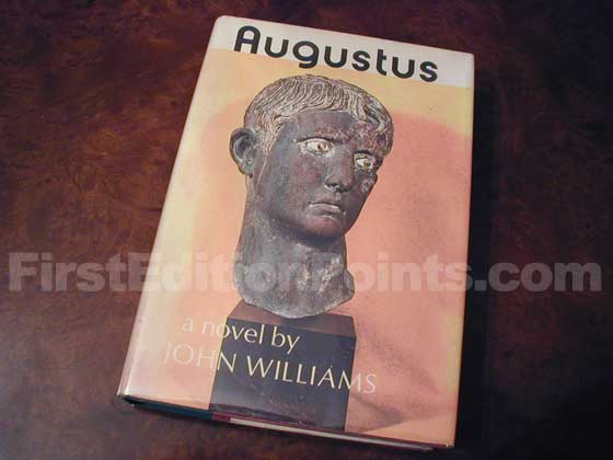 Picture of the 1972 first edition dust jacket for Augustus.