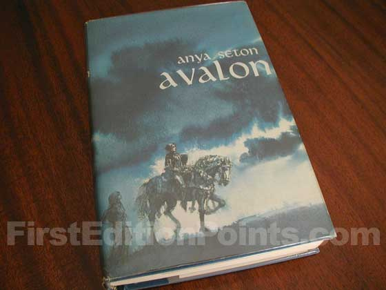 Picture of the 1965 first edition dust jacket for Avalon.