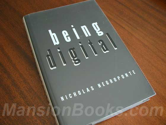 Picture of the 1995 first edition dust jacket for Being Digital.