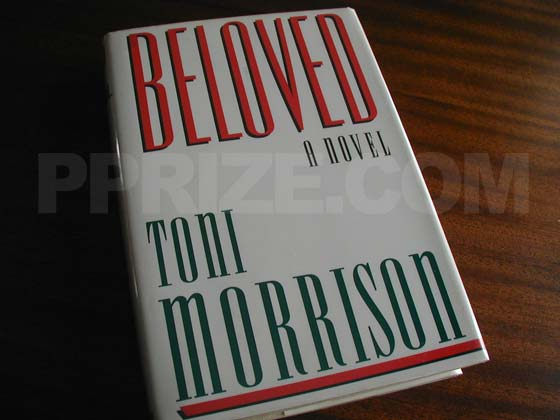 Picture of the 1987 first edition dust jacket for Beloved.