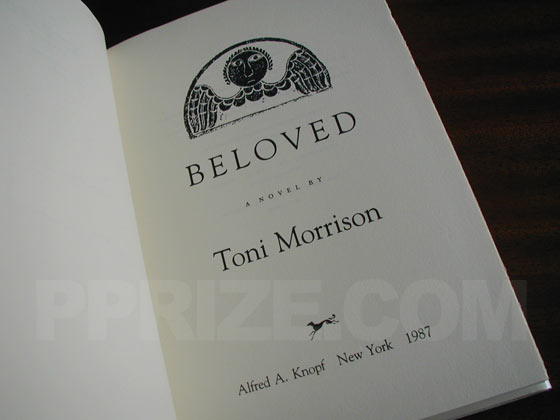 Picture of the first edition title page for Beloved.