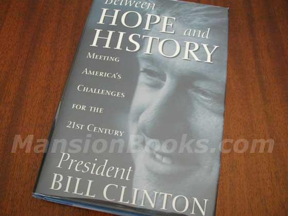 Picture of the 1996 first edition dust jacket for Between Hope and History.