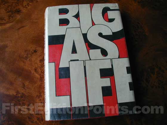 Picture of the 1966 first edition dust jacket for Big As Life.