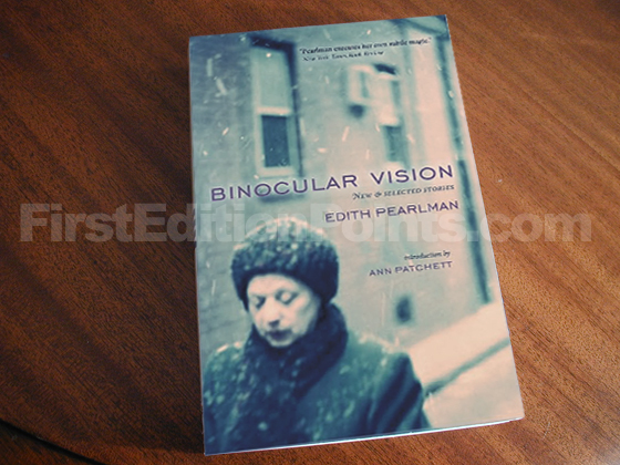 Picture of the 2011 first edition dust jacket for Binocular Vision.