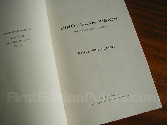 This is the title page from the first edition of Binocular Vision.