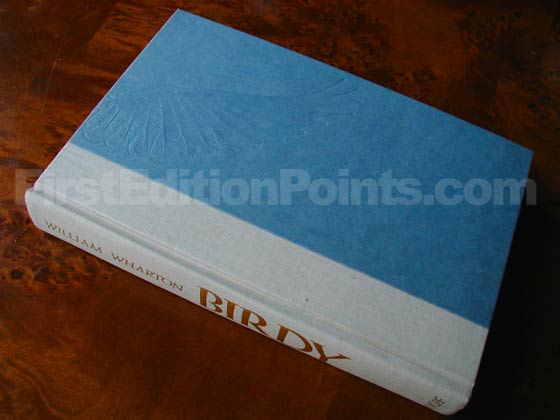 Picture of the first edition Alfred A. Knopf boards for Birdy.
