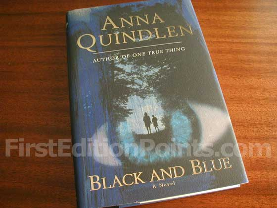 Picture of the 1998 first edition dust jacket for Black and Blue.