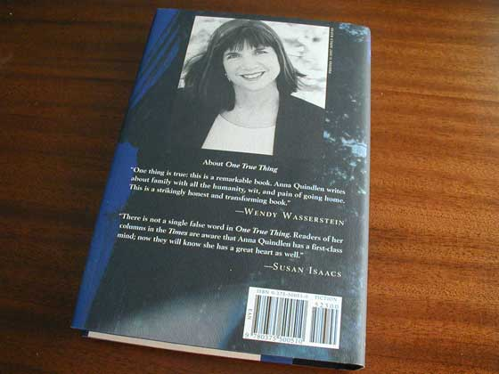 Picture of the back dust jacket for the first edition of Black and Blue.