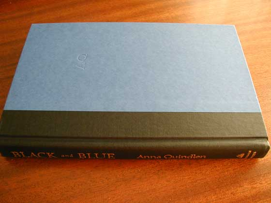 Picture of the first edition Random House boards for Black and Blue.