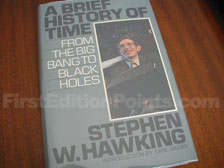 First Edition of A Brief History of Time