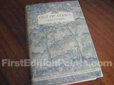 First Edition of Out of Africa