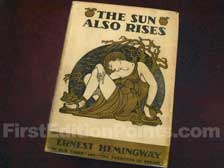 First Edition of The Sun Also Rises