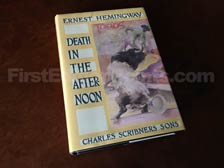 First Edition of Death in the Afternoon