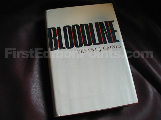 Picture of the 1968 first edition dust jacket for Bloodline.
