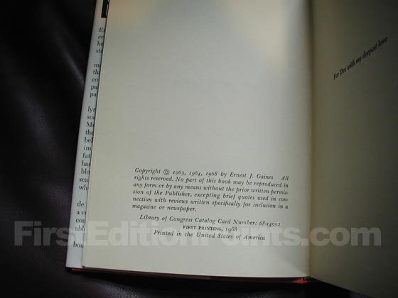 Picture of the first edition copyright page for Bloodline.